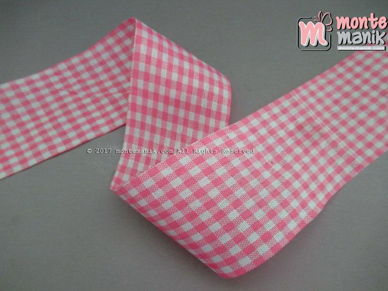 Pita Gingham Pink 5 cm (PITA-205)
