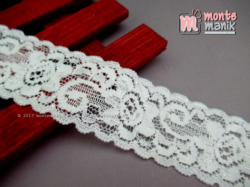 Renda Elastis Marbella 3 cm Broken White (RES-012)