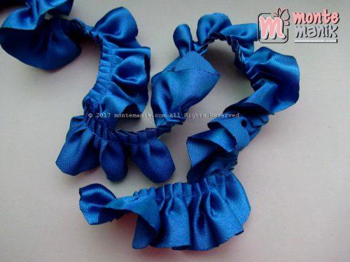 Renda Kerut Satin 2,5 cm Biru Benhur (RKS-012)