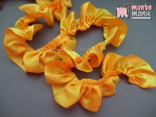 Renda Kerut Satin 2,5 cm Kuning Tua (RKS-011)