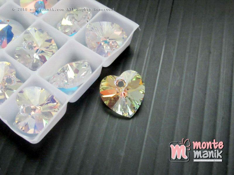 1 Pcs Kristal Pendant Swarovsky 10 mm Crystal AB
