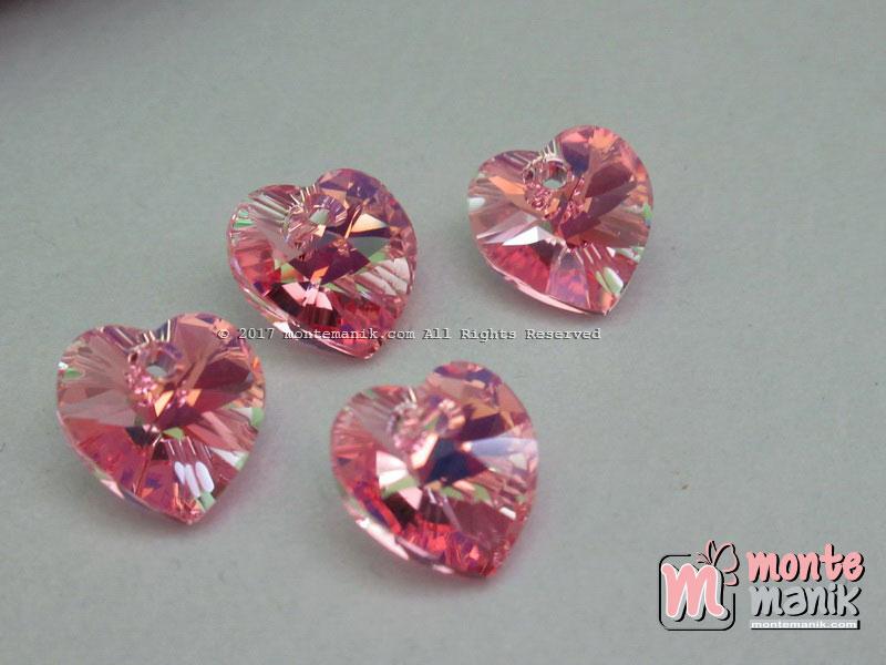Kristal Pendant Swarovsky 10 mm Blush Rose (Pink)