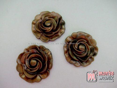 Manik Plastik Bunga Mawar Bronze (BRZ-02)