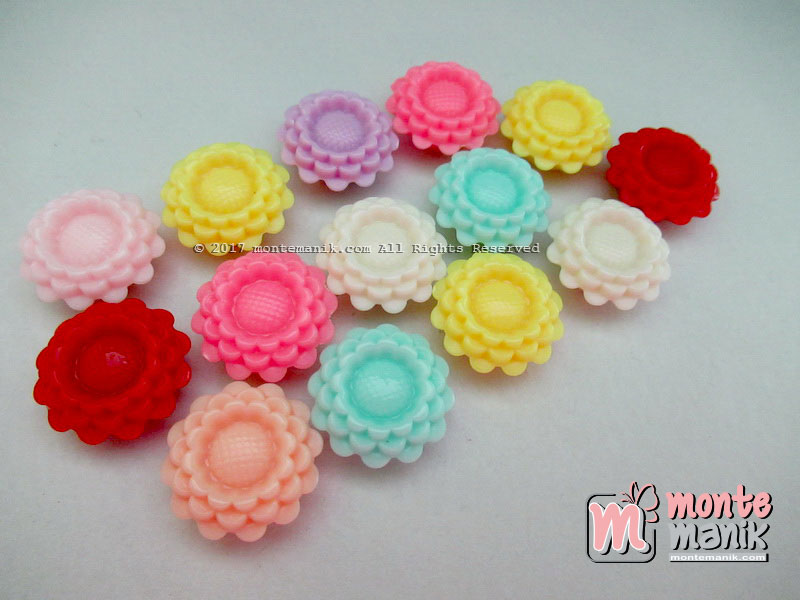Manik Plastik Bunga Sunflowers (PLA-057)