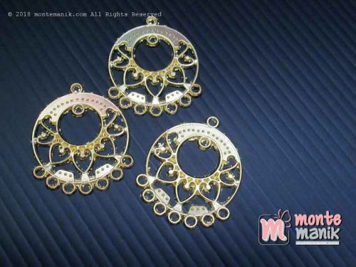 Ornamen Plat Anting Bundar Emas (OAB-031)