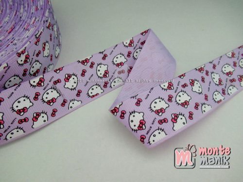 Pita Grosgrain Motif Hello Kitty 1 inc Ungu (PITA-218)