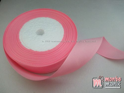 Pita Grosgrain Polos 1 inc atau 2,5 cm Pink (PITA-213)