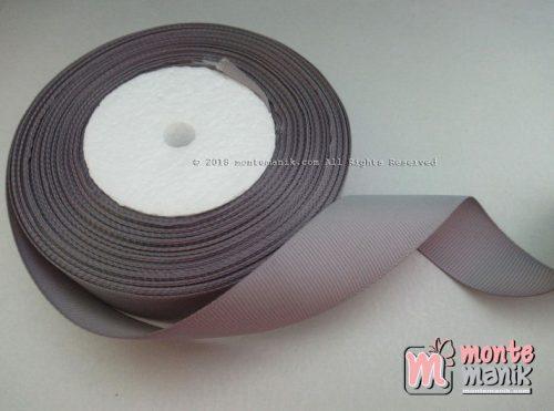 Pita Grosgrain Polos 1 inc atau 2,5 cm Smoke Grey (PITA-211)