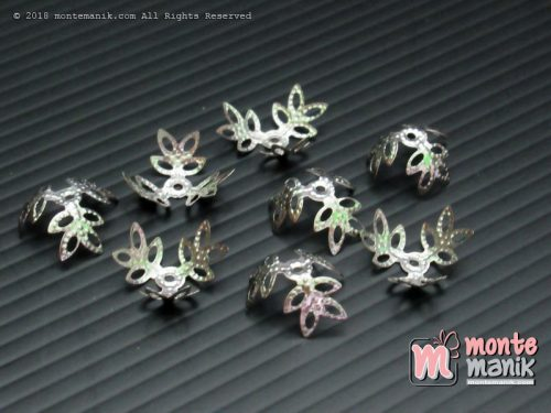 Cangkang Bunga Alur Daun 12 mm Nikel (CKB-029)