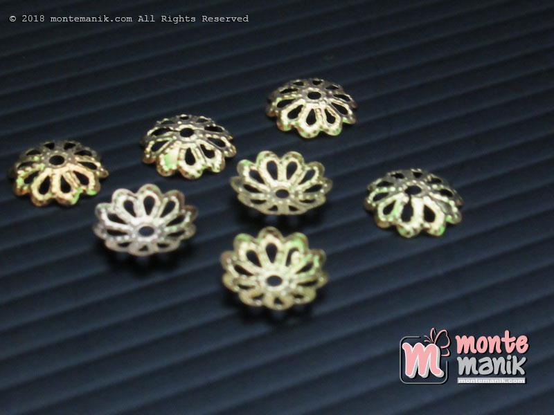 Cangkang Bunga Pipih Gold 8 mm (CKB-026)