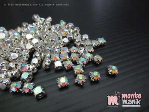 Diamond Cangkang 20 ss Putih Pelangi (DMD-050)