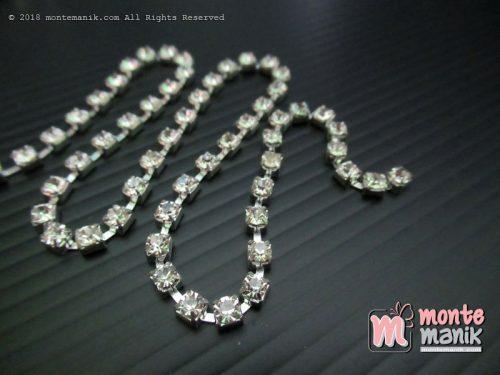 Diamond Renteng Mata Jarang 14 ss Putih Polos (DMD-050)