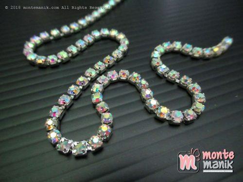 Diamond Renteng Mata Rapat 12 ss Silver Pelangi (DMD-052)