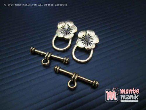 Kait Gelang atau Kalung Berornamen Bunga Emas (BKL-053)