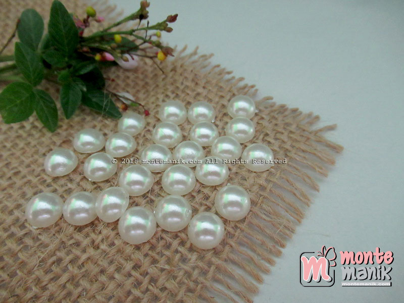 Mutiara Belah 8 mm Broken White (MTB-019)