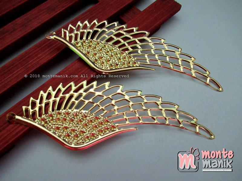Ornamen Lempengan Sayap Besar Gold (OLT-036)