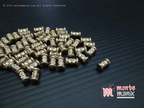Parel Batangan Ukir Gold 3 mm x 10 mm (PAREL-010)