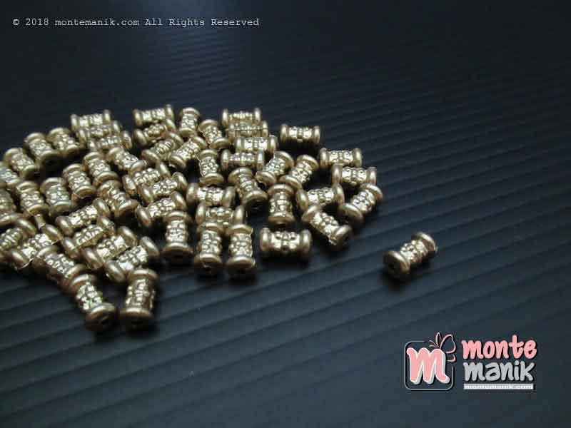 Parel Batangan Ukir Gold 3 mm x 10 mm (PAREL-010)