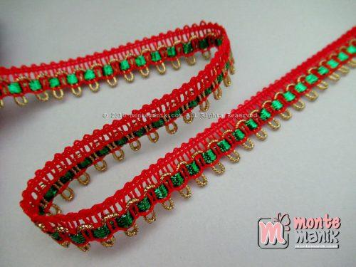Renda Variasi Merah 1 cm (RLN-039)