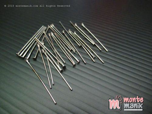 Head Pin atau Paku Mati Monel 2,8 cm Nikel (PAKU-07)