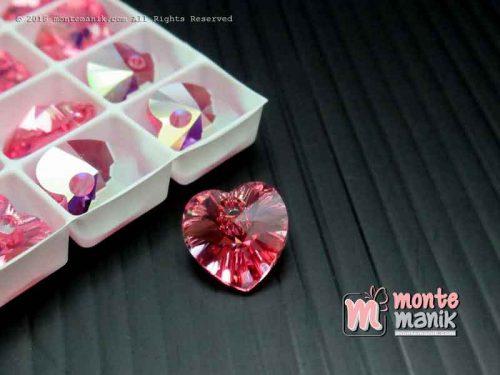 Kristal Swarovsky Pendant 10 mm Pink Rose AB-6202