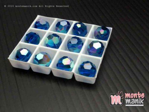 Kristal swarovsky Round Beads 8 mm Capri Blue AB 12-5000