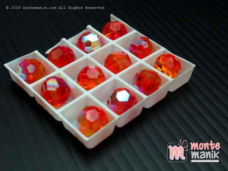 Kristal swarovsky Round Beads 8 mm Fire Opal AB 12-5000