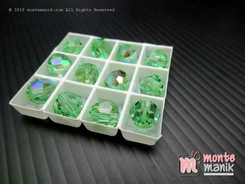Kristal swarovsky Round Beads 8 mm Peridot AB 12-5000