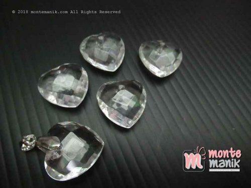 Manik Akrilik Kristal Liontin Clear (AKR-079)