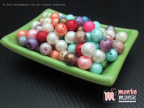 Mutiara Jeruk 8 mm Warna Campur (MTR-018)