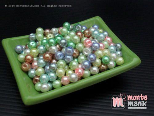 Mutiara sintetis 6 mm warna Pastel (MTR-021)