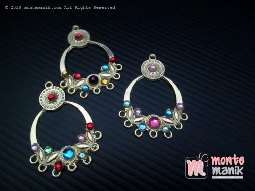 Ornamen Plat Anting OAB-035 Emas