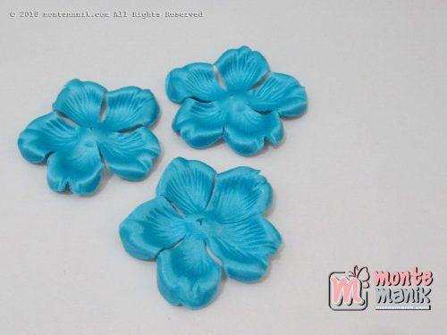 10 lembar Alpikasi Kelopak bunga Mangkok Biru 6 cm (APB-061)