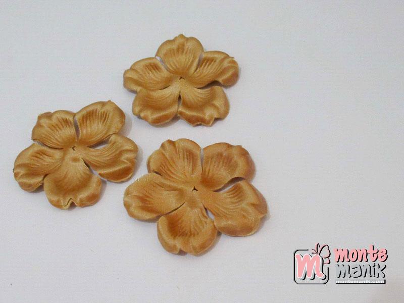 10 lembar Alpikasi Kelopak bunga Mangkok Coklat tua 6 cm (APB-063)