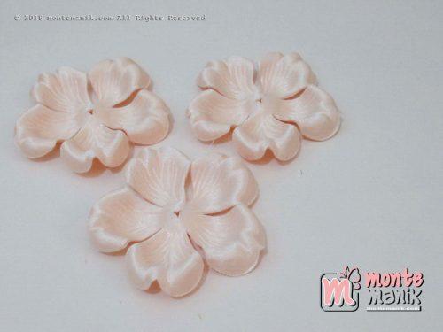 10 lembar Alpikasi Kelopak bunga Mangkok Cream 6 cm (APB-062)