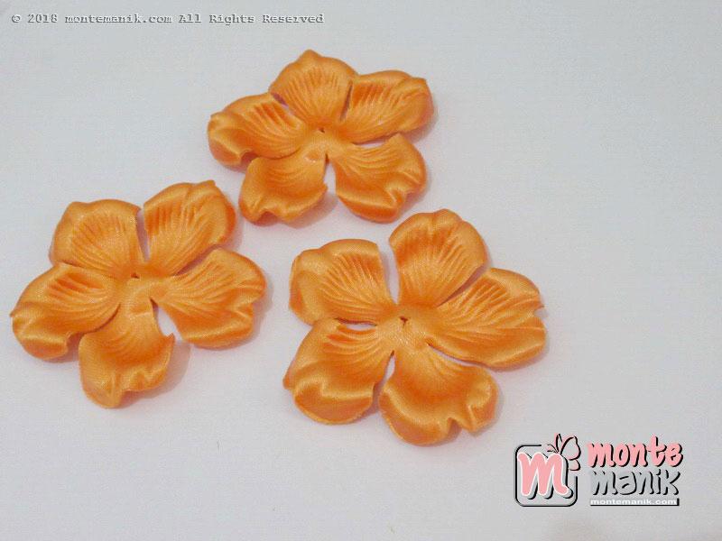 10 lembar Alpikasi Kelopak bunga Mangkok Orange 6 cm (APB-058)
