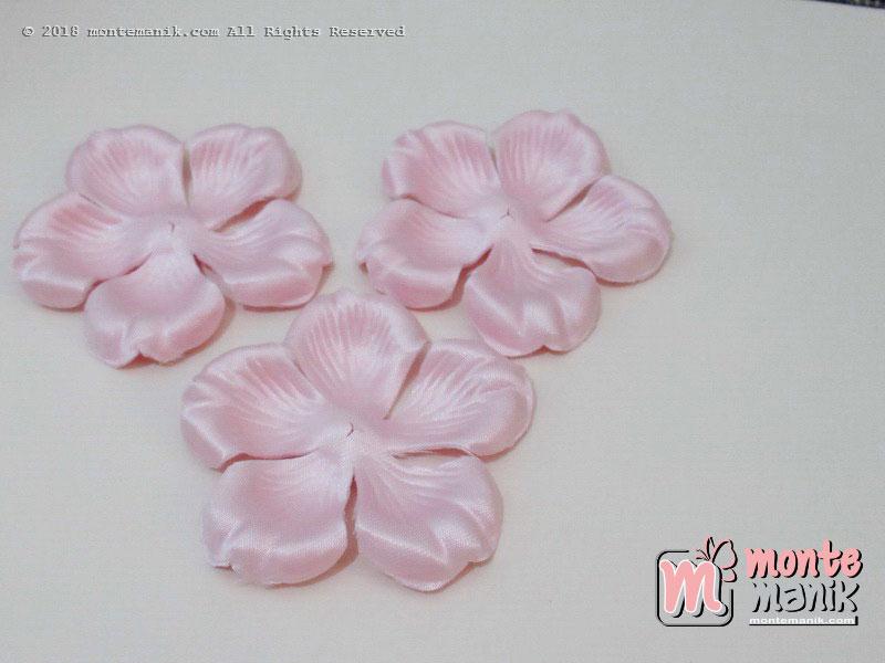 10 lembar Alpikasi Kelopak bunga Mangkok Soft Pink 6 cm (APB-055)