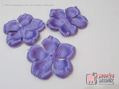 10 lembar Alpikasi Kelopak bunga Mangkok Ungu 6 cm (APB-059)