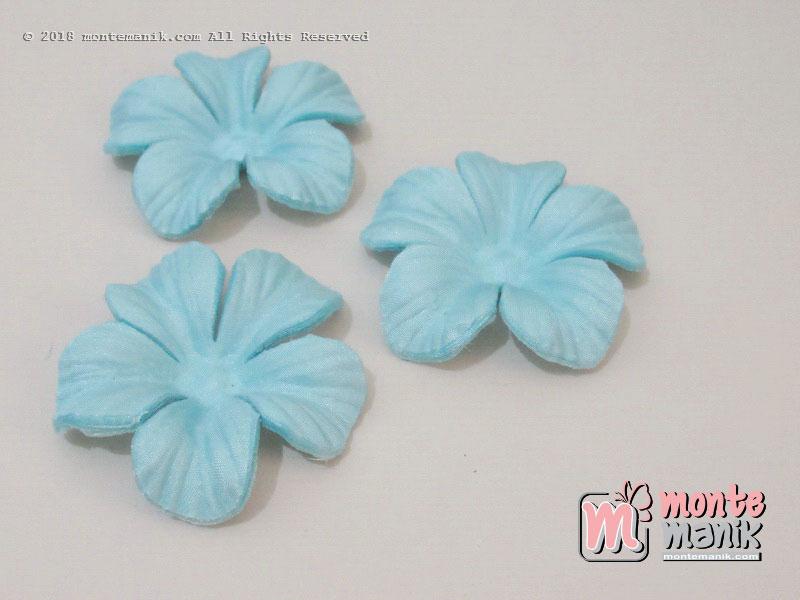10 lembar Alpikasi Kelopak bunga Satin Biru muda 5 cm (APB-052)