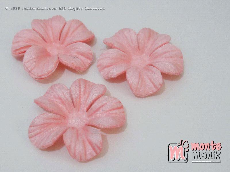 10 lembar Alpikasi Kelopak bunga Satin Peach 5 cm (APB-053)