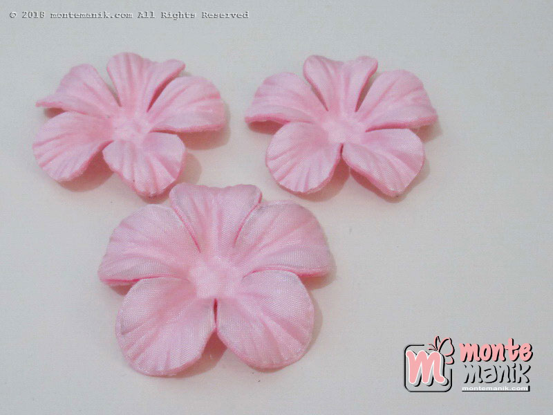 10 lembar Alpikasi Kelopak bunga Satin Soft pink 5 cm (APB-034)