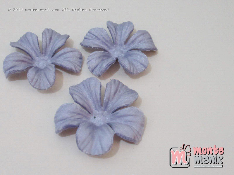 10 lembar Alpikasi Kelopak bunga Satin Ungu muda 5 cm (APB-051)