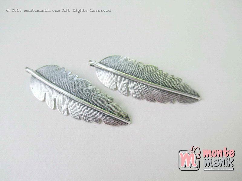 Charm Logam Daun Pisang nikel 16 mm x 5,5 cm (ALA-038)