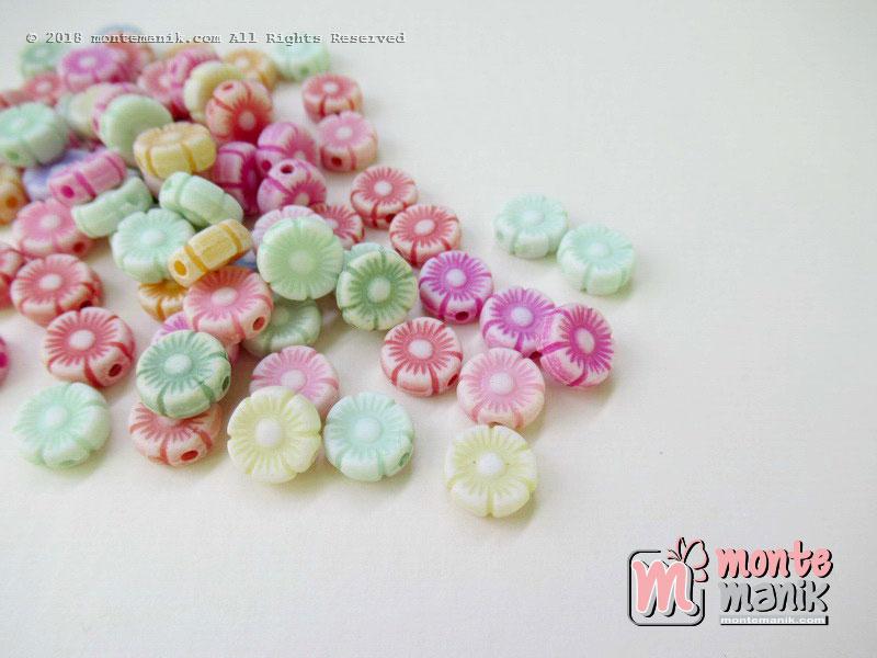 Manik Plastik bunga kapur 10 mm (PLA-042)