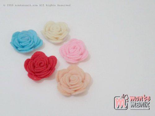 Per 4 biji Aplikasi Bunga Flanel 3,5 cm (APB-028)