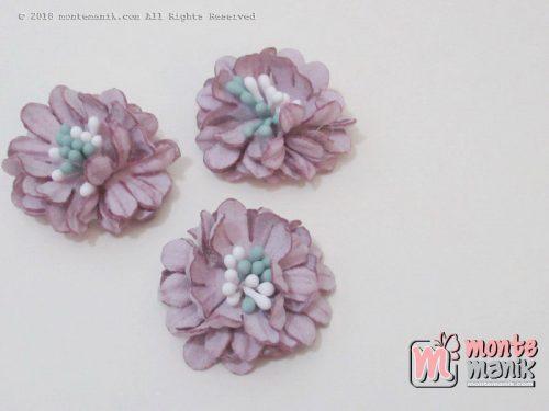 Per biji Aplikasi Bunga Suede Ungu 3 cm (APB-030)
