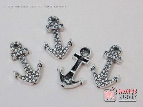 charm jangkar logam 3 cm x 1,5 cm nikel (ALA-010)
