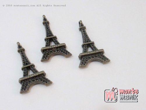 3 PCS Charm Eifel Bronze Hijau 3 x 1,4 cm (ALA-041)