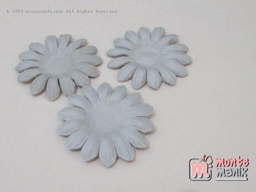Per 10 lembar Aplikasi Bunga matahari 4 cm Grey (APB-076)