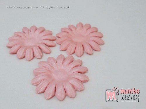 Per 10 lembar Aplikasi Bunga matahari 4 cm Peach (APB-075)
